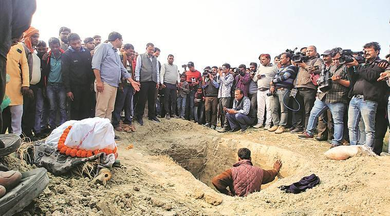 Her village in Unnao swarming with police, rape victim set afire is buried