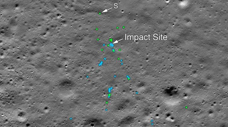 NASA locates debris from India moon lander that crashed