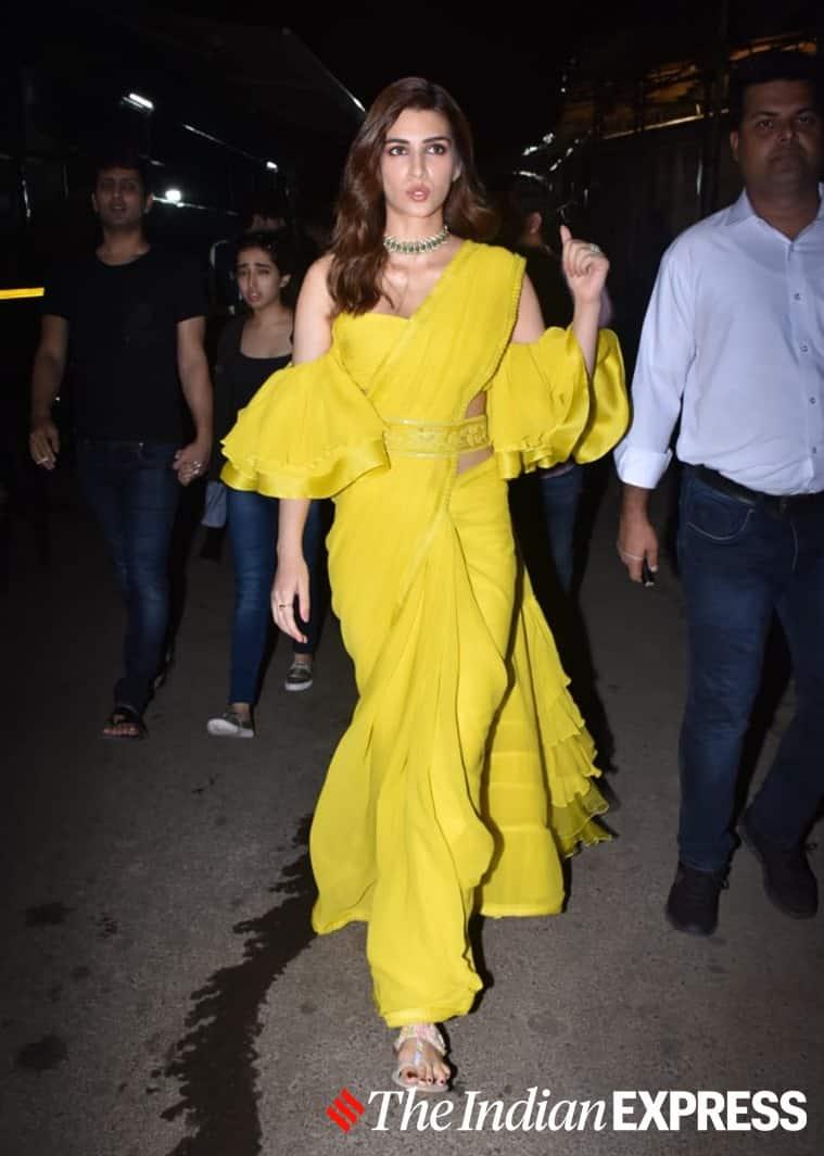 kriti sanon in indian wear, kriti sanon in ethnic wear, kriti sanon latest photos, kriti sanon recent photos, celeb fashion, lifestyle, indian express