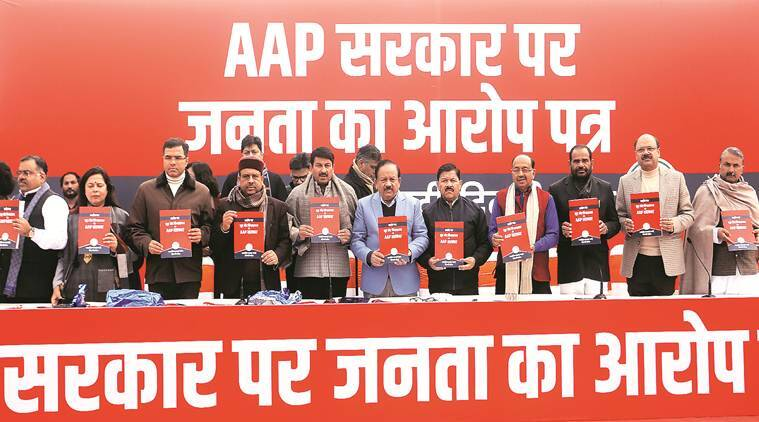 BJP launches chargesheet attack, AAP says will follow good advice
