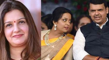 maharashtra axis bank row, amruta fadnavis axis bank, priyanka chaturvedi amruta fadnavis axis bank, maharashtra govt employees salary account, maharashtra news