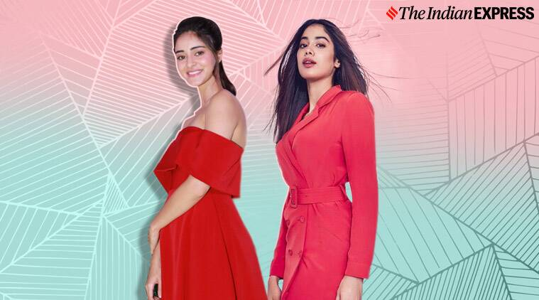 Janhvi kapoor ananya panday latest photos christmas outfits bhaane anniversary red fashion