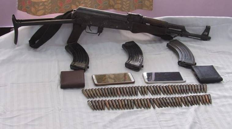 Manipur arms smugglers arrested, Manipur men arrested with AK-56 rifle, Manipur crime, indian express, Manipur news,