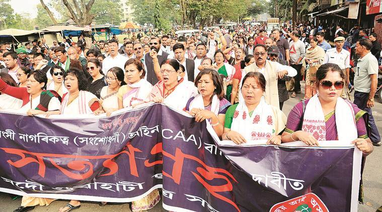 Assam Citizenship Law protests, guwahati Citizenship Law protests, assam studemts Citizenship Law protests, Himanta Biswa Sama, cab news, caa protest, caa protest today, caa protest latest news, amu latest news, jamia protest,