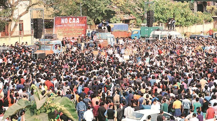 Assam Citizenship protest, Assam NRC protest, NRC CAA Assam, Assam news, Assam Citizenship protest violence, indian express news