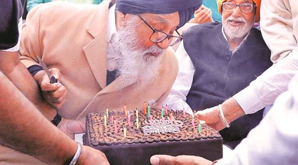 Former Punjab CM Parkash Singh Badal turns 92, celebrates at village home with family and party workers | India News,The Indian Express