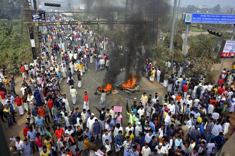 bengal protest, cab, citizenship law, citizenship act protests in bengal, trains set on fire in bengal, kolkata city news