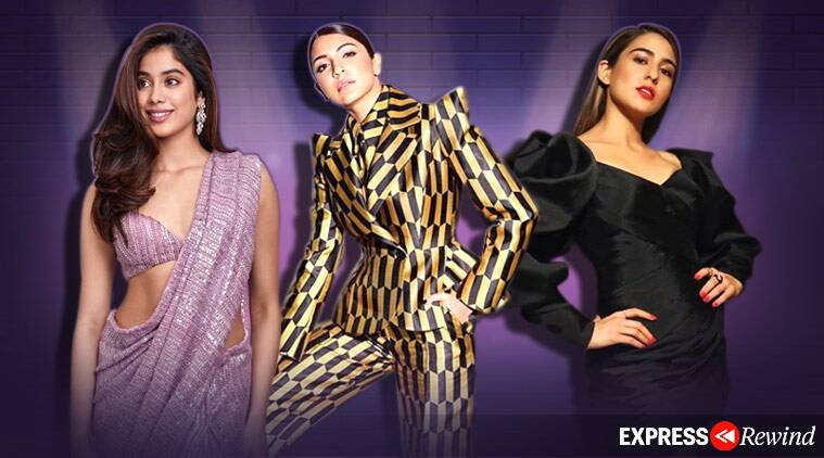 fashion trends 2019, sequin trend, pantsuit trends, janhvi kapoor photos, anushka sharma photos, fashion trends 2019 indian express