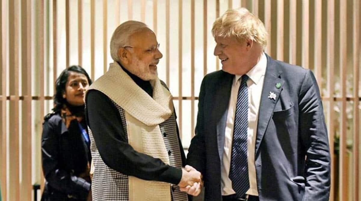 Boris Johnson invites PM Modi for G& meeting, G7 meeting, Narendra Modi, India G-7 meeting, British PM G-7 meeting, Indian express