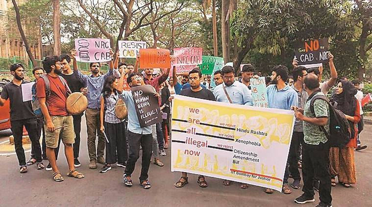 Students of iit bombay protest passage of cab