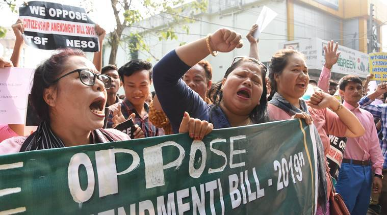 Citizenship Amendment Bill 2019, CAB, Lok sabha, northeast protests cab, Citizenship bill in Parliament, Union home minister amit shah on illegal immigrants, muslims in citizenship bill, citizenship bill NRC, national register of citizens, northeast citizenship bill protests, Parliament session, Parliament Winter Session, Tripura, assam, Indian Express