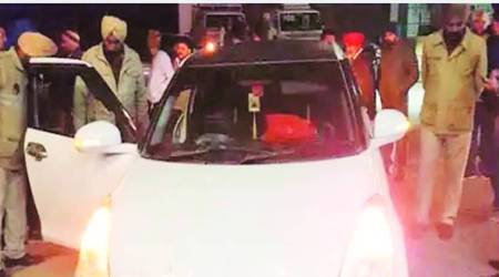police open fire on Ludhiana-Moga highway, Ludhiana news, punjab news, india news, indian express news