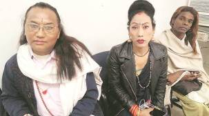 Chandigarh: Members of transgender community protest against removal of vends