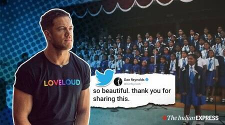 imagine dragons, imagine dragons believer, dan reynolds, imagine dragon school choir, school kids sing imagine dragon, viral video, indian express