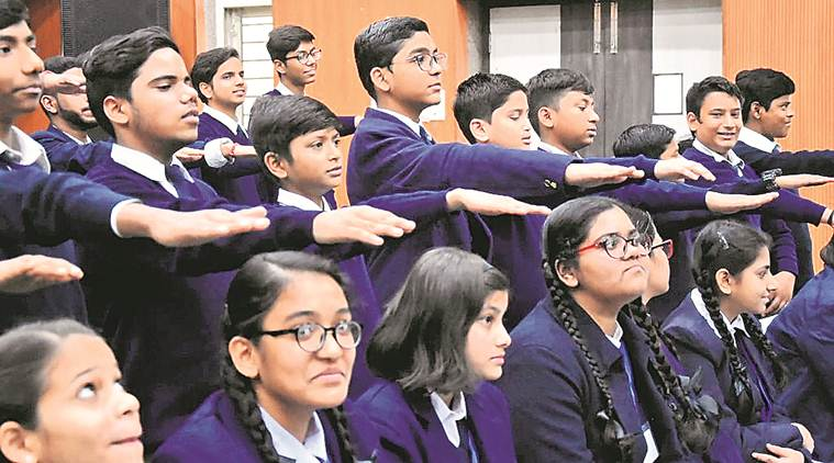 Delhi CM arvind kejriwal, Delhi schoolboys pledge, oath on women safety, women safety in delhi, delhi news, indian express news