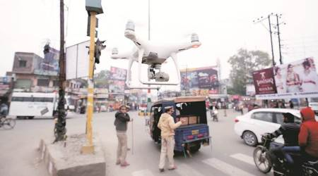 police surveillance to record anti-social activities, aerial surveillance of sensitive areas in UP, citizenship amendment act protest, NRC protest, police violence, CAA violence, UP news, indian express news
