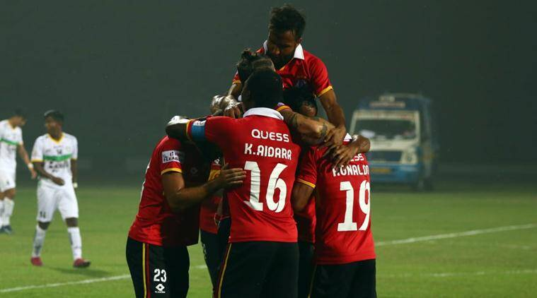 East bengal beat trau to jump to top of i league table
