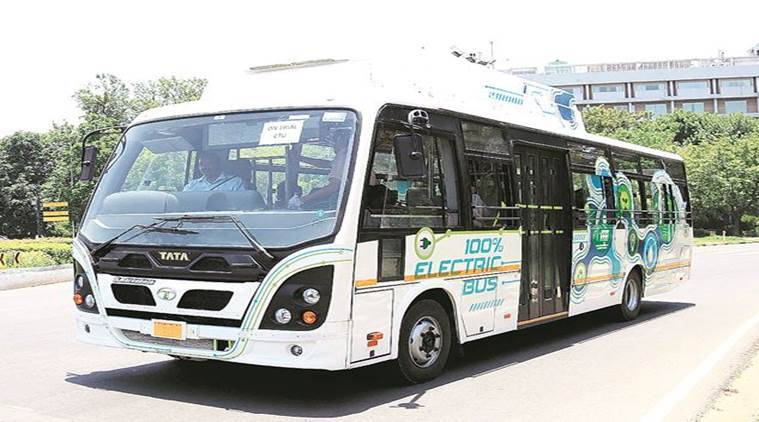 electric buses, chandigarh electric buses, chandigarh city news, punjab news, indian express news