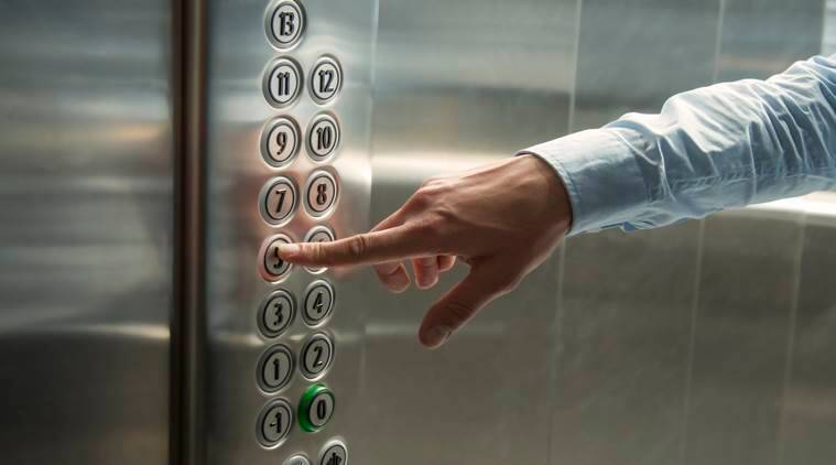 elevator buttons, germs, indian express, indian express news