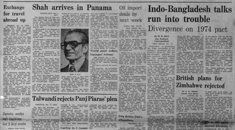 December 9, 1979, Forty Years Ago: Indo-Bangla talks
