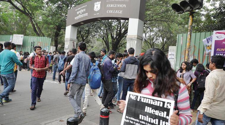 New citizenship law: Students of Fergusson college organise signature campaign in protest
