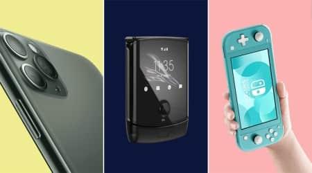 Apple, iPhone 11 Pro Max, Nintendo Switch, Amazon Echo Studio, Motorola Razr, Apple AirPods Pro, OnePlus 7T, DJI Mavic Mini, best gadgets of 2019