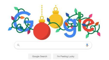 google doodle, christmas, holiday season, happy holidays 2019, google holiday doodles, indian express,