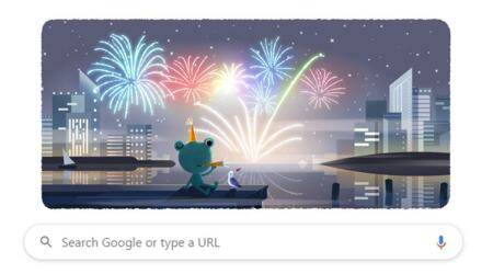 google doodle, new year's eve, google doodle december 31, google froggy, google weather frog, viral news, trending news, indian express