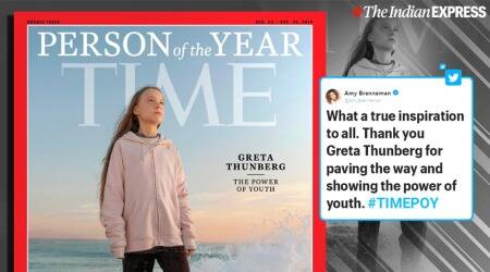 greta thunberg, time magazine, time peron of the year, time poy, greta thunberg climate change, viral news, indian express
