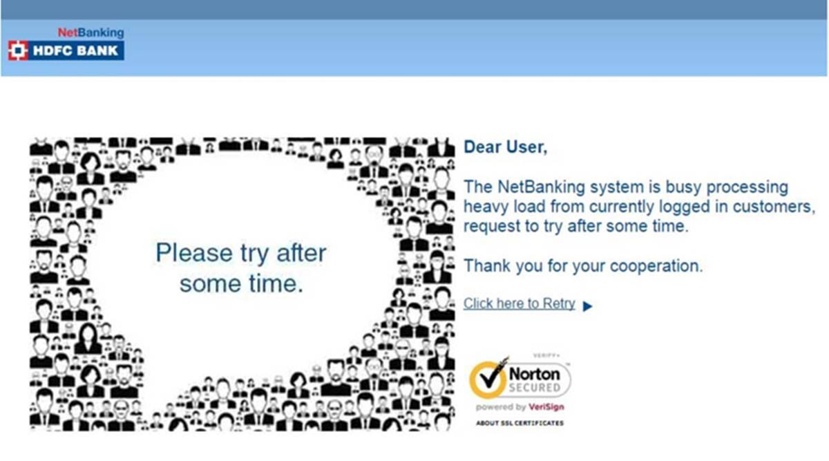 HDFC Bank NetBanking Login Not Working Today Online News: HDFC Website  Server down by 'technical glitch' today