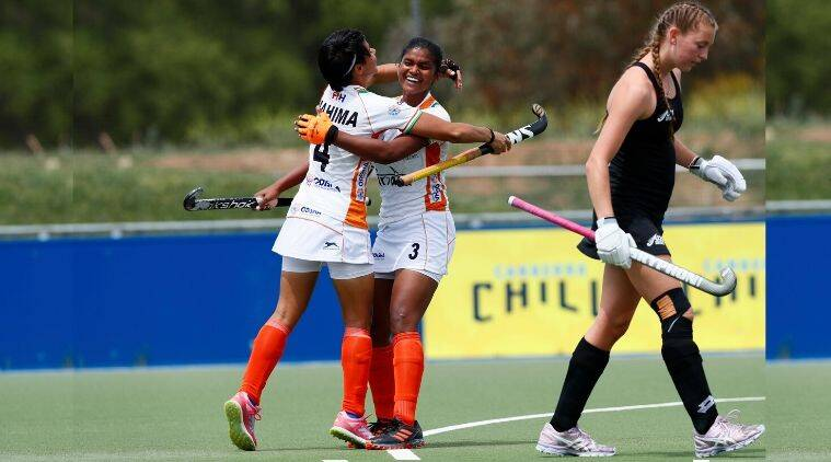 Indian women's hockey, Indian women's hockey match, India vs New Zealand hockey, Sharmila Devi, Indian junior women's hockey, 3-Nations hockey Tournament