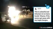 Viral video: Man chases runaway horse carriage on motorcycle in Pune to stop it