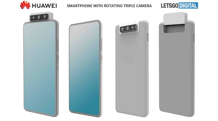 huawei triple rotating camera setup, asus 6z, triple rotating camera setup, huawei patent rotating camera