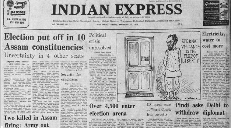 Forty years ago December 11, 1979: Assam polls delayed