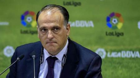 Tebas to stay 4 more years as Spanish league president