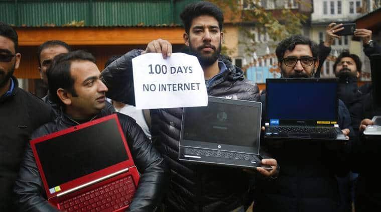 Kashmir internet, Kashmir internet restriction, Kashmir broadband, internet in Kashmir, Jammu and Kashmir, websites in J&K, Kashmir shutdown, Indian Army, Indian Express