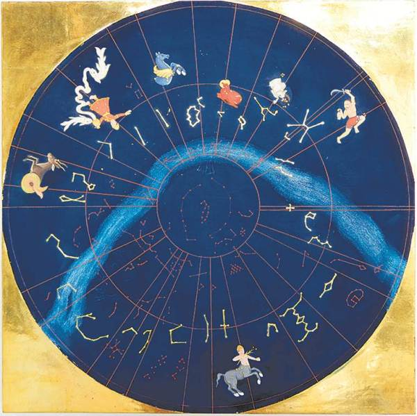 artists give form to the concept of time, Puducherry-based artist, artists paint mythological views of heavens, star constellations and cloud divination, indian express arts and culture, indian express news