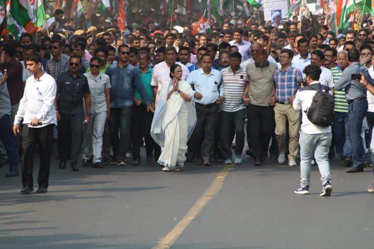 Mamata banerjee, Mamata Banerjee rally, Bengal CAA protests, trains burnt in bengal, mamata banerjee on bengal violence, citizenship amendment act, indian express