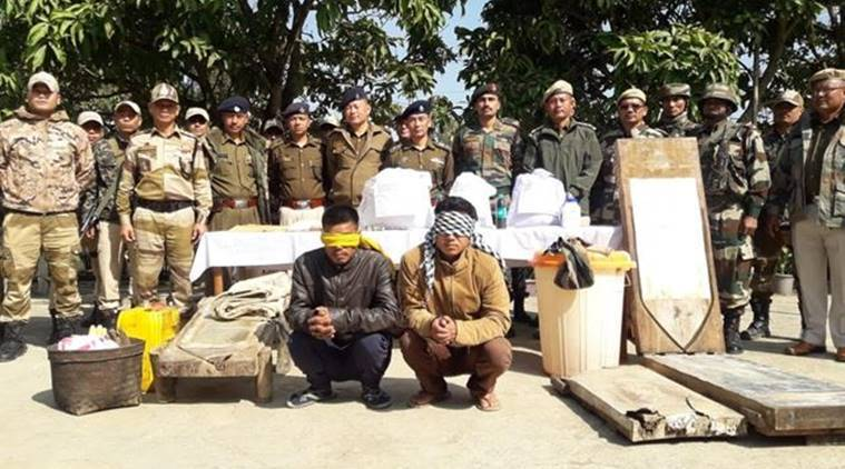 Manipur drug bust, Drug worth Rs 165 crore seized in Manipur, Manipur drug business, heroin labs busted in Manipur, Manipur news, indian express