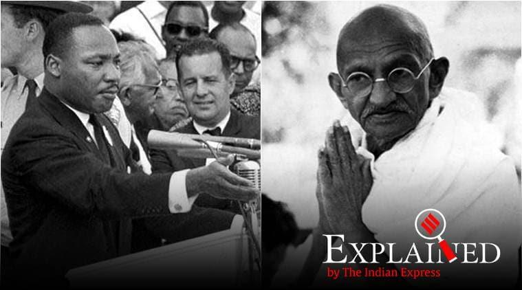 mahatma gandhi, martin luther king jr, us bill gandhi, us bill luther king, john lewis, gandhi legacy bill, indian express news