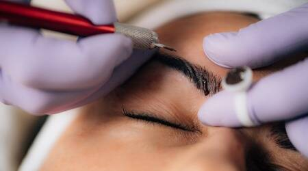what is microblading, microblading process, microblading cosmetic treatment, indian express, lifestyle