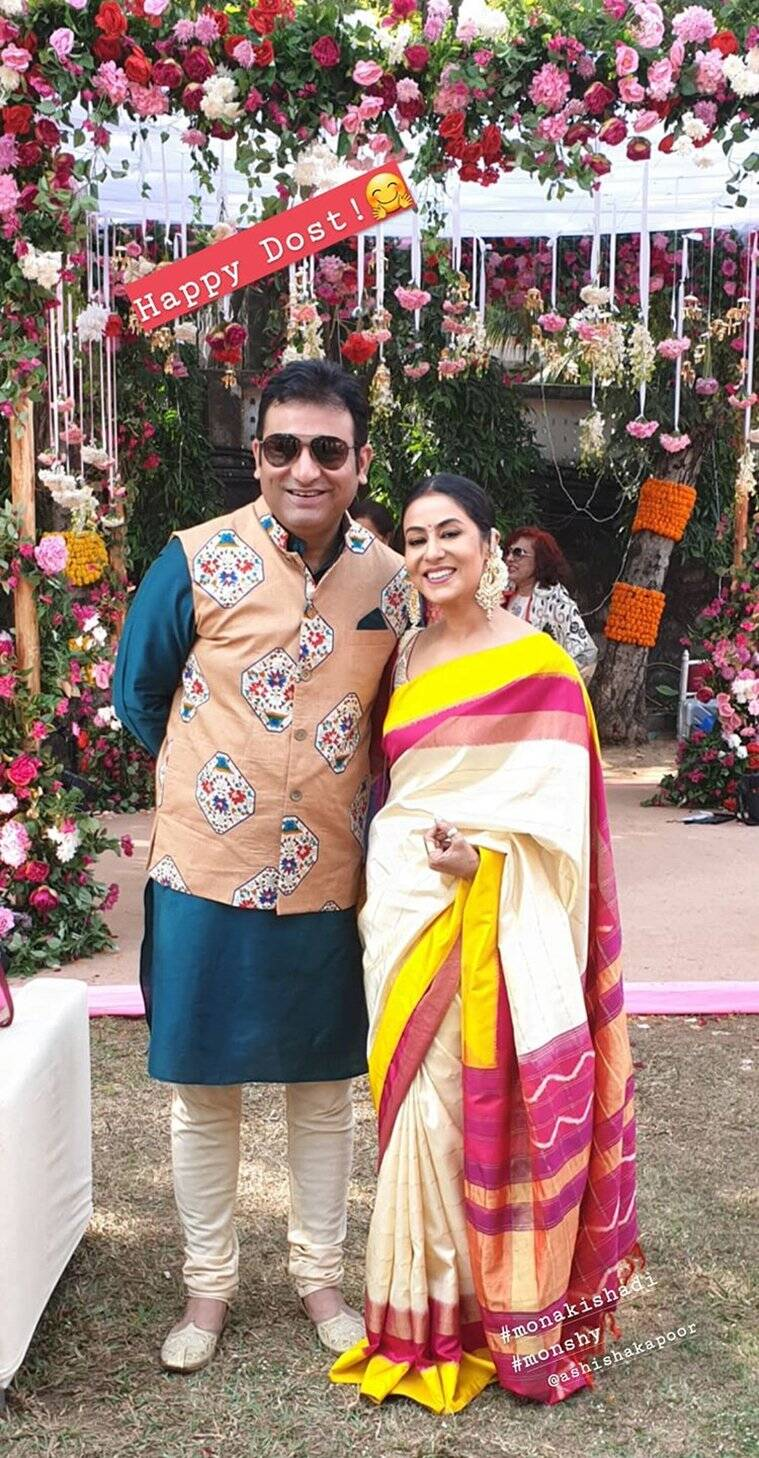 Nivedita Bhattacharya at mona singh wedding