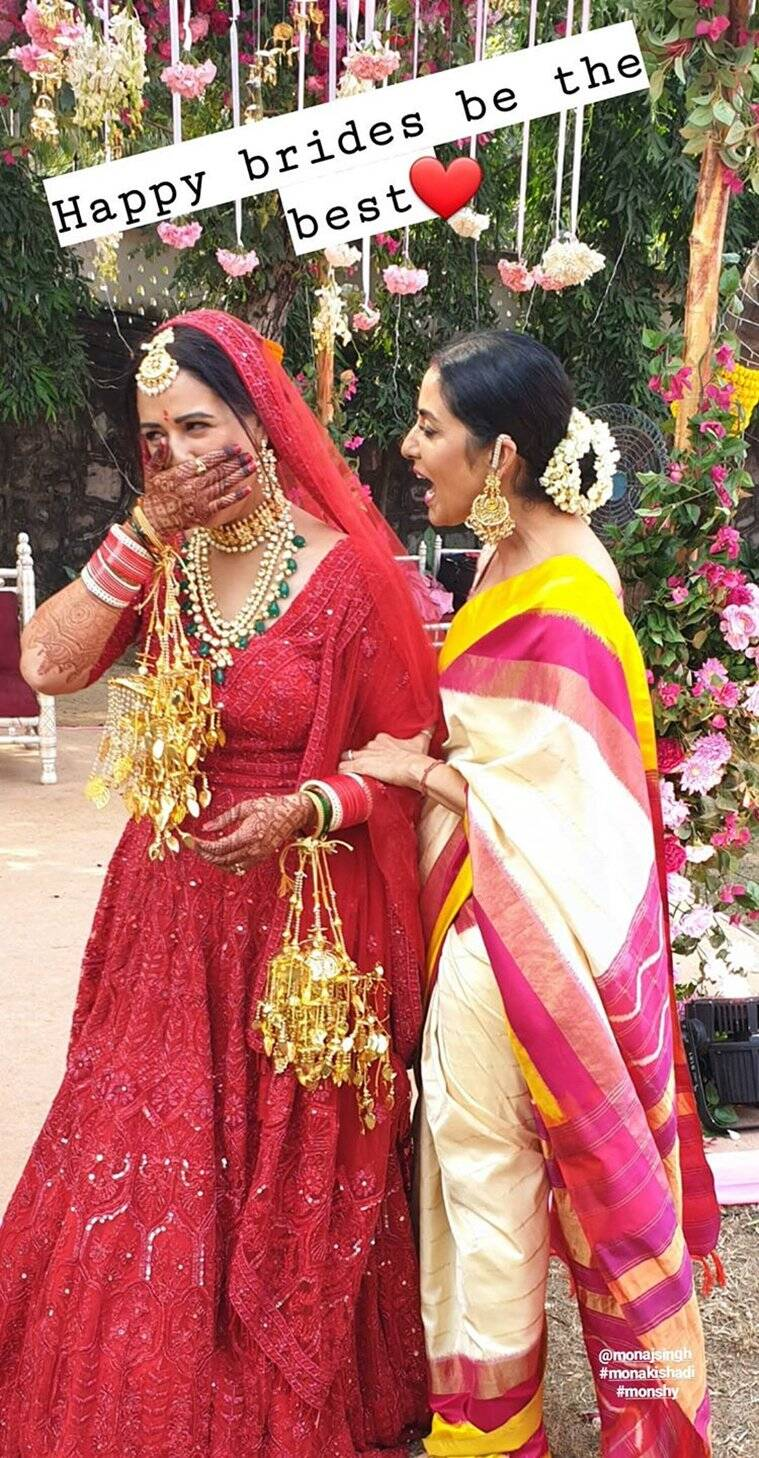 mona singh marriage pics