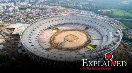 motera stadium ahmedabad, new motera stadium, Sardar Patel stadium, World XI vs Asia XI, sports news, biggest cricket ground in world, indian express explained