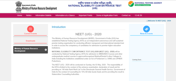 NEET 2020, NEET 2020 application process, NEET 2020 online application form, nta.ac.in. neet.nta.nic.in, how to apply for NEET, NEET 2020 application process to start soon, how to apply for NEET, mbbs entrance, college admission