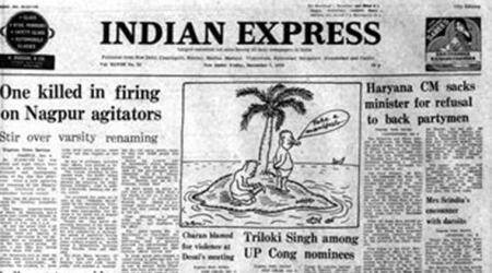 forty years ago, indian express, nagpur violence, george fernandes, charan singh