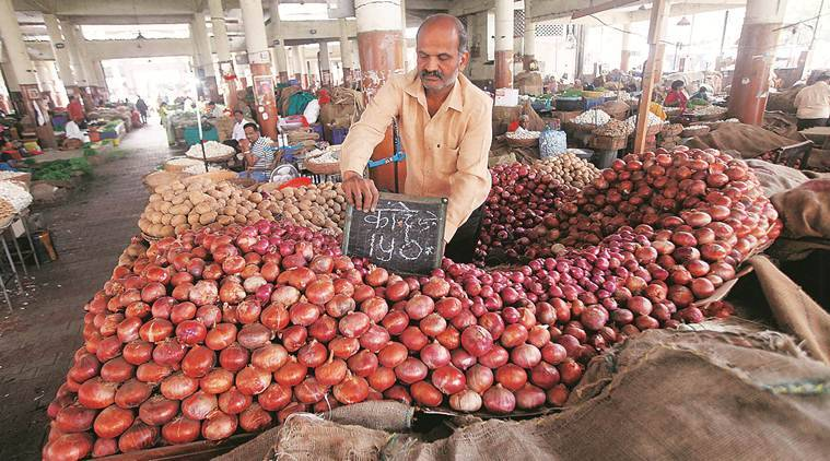 Onion prices, onion prices in India, onion prices in Delhi, amit shah, onion rates, Indian Express