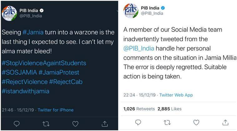 Citizenship law protest pib tweets against jamia action director warns of action