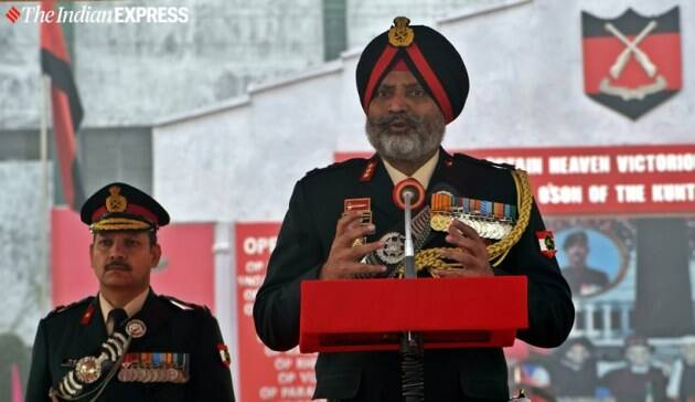 indian army recruits, Jammu and Kashmir Light Infantry, srinagar, passing out parade, passing out parade photos, Lt Gen Dhillon, jammu and kashmir youth, j&k news, india news, indian express