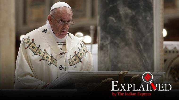 Pope Francis, pontifical secret abolished, Pope Francis pontifical secret, Pope Francis birthday, what is pontifical secret, indian express